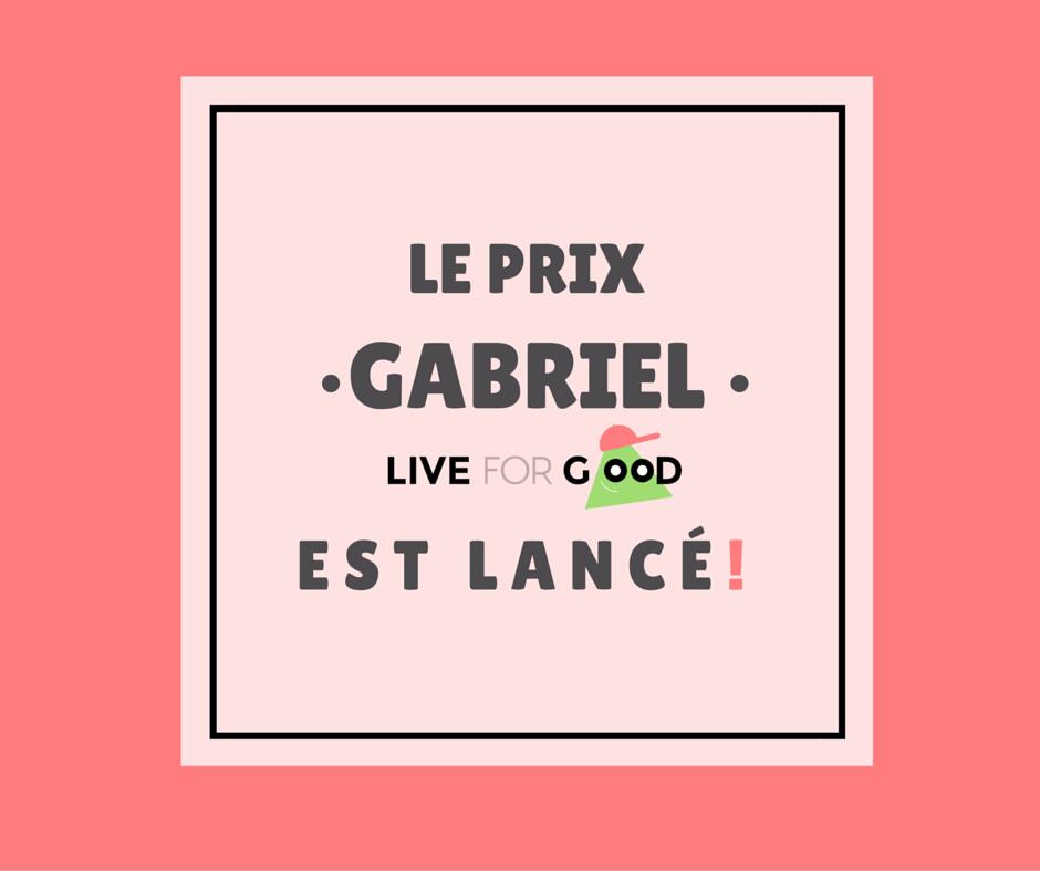 Affiche - Prix Gabriel
